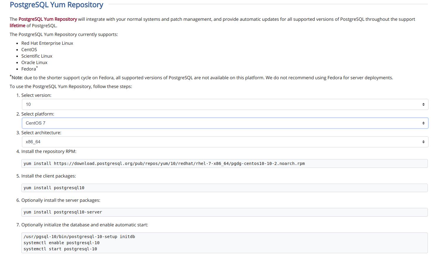 PostgreSQL-Yum_Repository