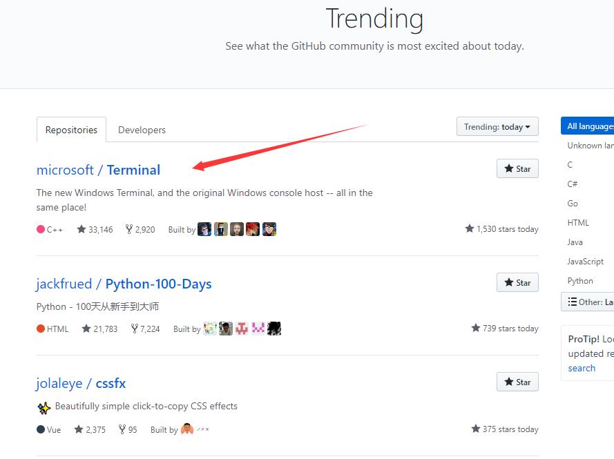 github-Trending